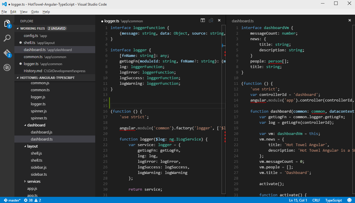 VSCode Layout